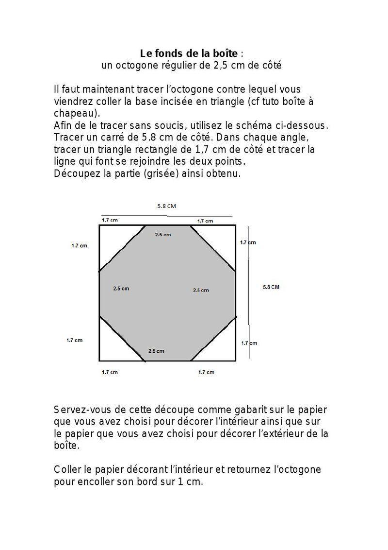 Tuto boite octogonale origami - Tuto boite en carton ...